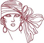 wind star embroidery :: Redwork Flapper 4