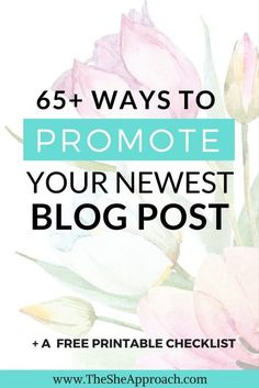 Blogging tips | New blogger advice | Looking for ideas on where to promote your blog posts and get more traffic to your blog? Get my free printable list and grow your blog today! Blogging tips for beginners. Blog traffic advice. Get more page views. Make money blogging. Free checklist. The S