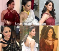 17 ultra stylish blouse designs sported by Yeh Hai Mohabbatein actress Anita Hassanandani aka Shagun Arora. Anita or Shagun never fails to surprise us with her stylish designer sarees and blouses. Take a look at Shagun blouse designs images like halter neck, high neck, collar neck, sleeveless, cut out