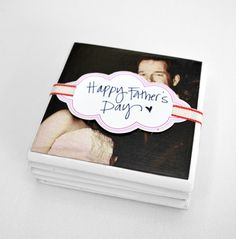 DIY Fathers Day Gift Ideas - How to make your own Photo Coasters Dad will LOVE - Tutorial via Arrow and Heart
