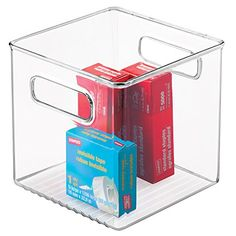 MDesign Office Desk Cabinet Storage Organizer Bin   Cube, Clear MetroDécor  Http://