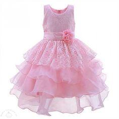 Pink Fairytale Bloom Kids Party Dress