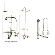 Elizabethan Classics ECETS12 Wall Mount Exposed Shower System with