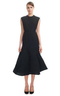 The Best LBD: Vika Gazinskaya Fitted Flounce Dress at Moda Operandi