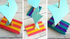 Vizes kalandok: vitorláshajók spatulából #diy #kreatív #hajó #nyár #víz #gyerek #vitorlás #spatula
