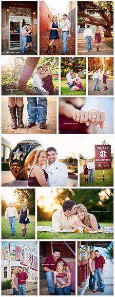 Aggie A College Station Texas Engagement  © Kelly Hosch Photography