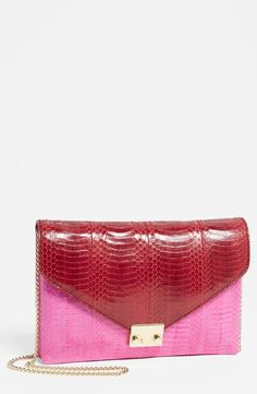 Colorblock clutch!