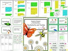 """Reading And Science Integration: """"The Butterfly And The Bee"""" (Environment/Characteristics)Readers Theater Scripts with…"""
