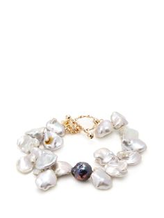 Petal Pearl Bracelet from Natural Stones Feat. Janna Conner on Gilt