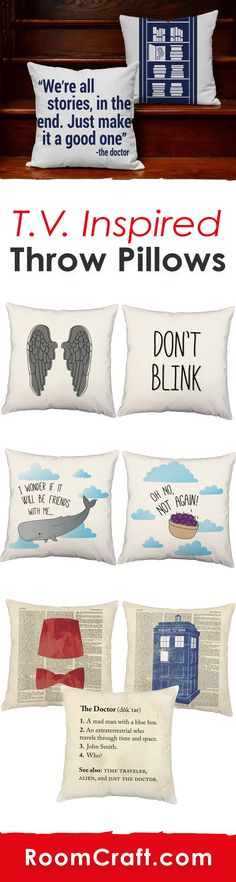 These fandom throw pillows are the perfect guide to the galaxy and make a great companion for traveling through the universe. Each design is offered in multiple fabrics, colors, and sizes making them the perfect addition to your home, game room or man cave. Our quality entertainment pillow covers are made to order in the USA and feature 3 wooden buttons on the back for closure. Choose your favorite and create a truly unique pillow set. #roomcraft