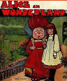 Vintage Alice In Wonderland Cover —Gordon Robinson-Linen