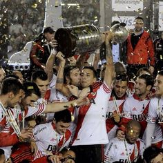 River Plate players celebrate with the trophy after their victory over Tigres in the Copa Libertadores final on Thursday night Argentina Soccer Team, Club World Cup, Mexican Outfit, Sporting Live, Carp, Fifa, Victorious, 1, Football