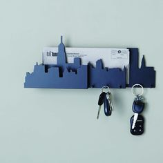 Cityscape Wall Mounted Key and Mail Holder by Nexxt