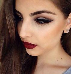 Image via We Heart It #fashion #girls #hair #lady #lips #makeup #red #style #women