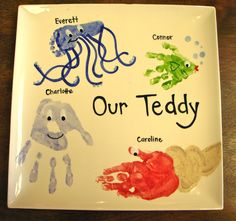 Footprint octopus, handprint fish, handprint jellyfish & handprint hermit crab