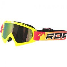81f6075dfa79f Óculos Capacete MotoCross Red Dragon YH-16FAS Amarelo Neon Lente Dupla  Espelhada