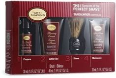 The Art Of Shaving Sandalwood Mid Size Kit Badger Shaving Brush, Shaving Oil, Shaving Cream, Shaving Gift Set, The Art Of Shaving, Razor Burns, Pre Shave, Close Shave, After Shave Balm