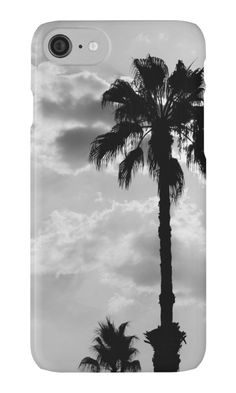 Palm Trees In Black and White iPhone Case by ARTbyJWP from Redbubble #phonecases #iphonecase #phoneaccessories #palmtrees #blackandwhite  ---   Black and white capture of palm trees silhouettes on a cloudy sky. • Also buy this artwork on stationery, apparel, stickers, and more.