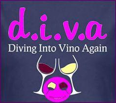"Wine d.i.v.a - ""Diving into Vino again"" __[Via Wino-licious/FB] (Definition) #Winocabulary (Wine glass Illustration) #cBlues #cPinks"