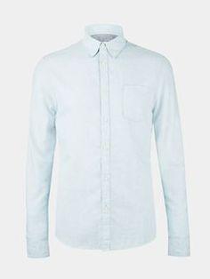 Blue Brushed Flannel Shirt