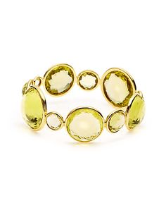 "Some of you have to get in on this: IPPOLITA ""Lollipop"" 18K 170.00 cttw. Citrine Bangle"