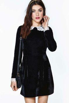 Wednesday Velvet Lace Dress