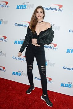 Barbara Palvin showed her holiday spirit by showing off her jingle bells - Image 0
