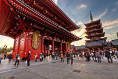 Templo Budista Sensoji, em Tóquio