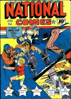 national comics#1 will Eisner cover.