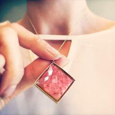 Pretty in pink. Lola Brooks' 23.24ct pink tourmaline pendant set in 18k. #lolabrooks #pinktourmaline #18k #lovegold #futureheirlooms #finejewelry #augustla