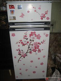 Наклейка Flowers Butterfly aliexpress - «сказ о том как я вернула к жизни старый холодильник!! :)))» | Отзывы покупателей