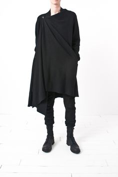 XXl Century.The Future id Now! Obscur - triple hook asymmetric wool cardigan