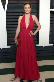 Sexy Olivia Wilde On Oscar Party Celebrity Dresses Backless Halter Pleated Chiffon 2016 Grape Long Occasion Dress Evening Gowns Celebrity Inspired Dresses, Celebrity Dresses, A Line Evening Dress, Evening Dresses, Celebrity Evening Gowns, Long Occasion Dresses, Wine Dress, Oscar Dresses, Vanity Fair Oscar Party