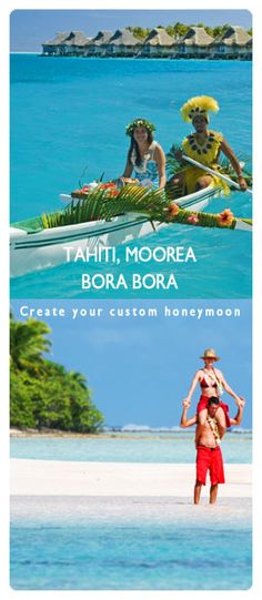 I'm loving this! Honeymoon idea: TahitiI, Moorea, Bora Bora a la carte for 10 nights at Luxury Resorts! You customize the places you stay at and get discounts directly through Tahitian based travel agencies on this site.