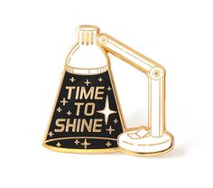 Compoco Space Inspired Enamel Pin Inspirational Lapel Pin Time to Shine Lamp Poster Maker, Pin Enamel, Jacket Pins, Matching Cards, Cool Pins, Metal Pins, Pin And Patches, Up Girl, Pin Badges
