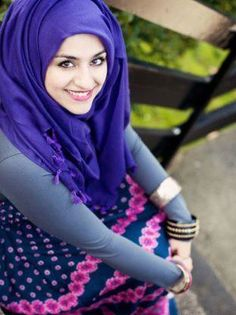 love this purple hijab