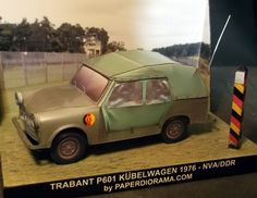 1/35 paper scale model of the Trabant P 601 Kubelwagen from PaperDiorama.