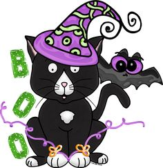 Free Halloween Kitty Clipart from the 3 AM Teacher (Download from this blog post)