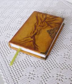 Leather Notebook Journal Diary Boyfriend gift Rustic by AnnaKisArt