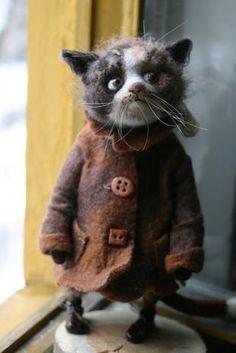 Needlefelted cat
