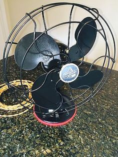 ensure convenient electric outlet to bring indoor fan outdoors infrequently; Vintage-1946-Emerson-Electric-Oscillating-Fan-Model-2450-B