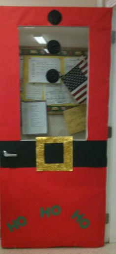Santa door for the class room door :)