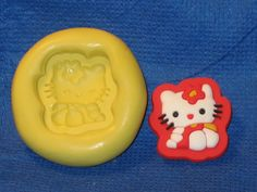 Hello Kitty Push Mold Resin Clay Candy Food Safe Silicone #527 Chocolate Soap Candle by LobsterTailMolds on Etsy