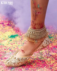 Anklet Designs, Jewellery Designs, Gold Jewellery, Jewelery, Indian Shoes, Indian Jewelry Sets, Bohemian Jewelry, Ankle Jewelry, Indian Earrings