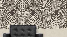 Stencil Cebra para decorar paredes de www.todostencil.com