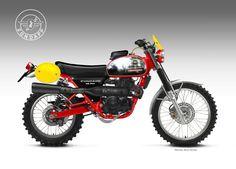 Motorcycle Design - by Oberdan Bezzi Indian Motorcycles, Triumph Motorcycles, Vintage Motorcycles, Custom Motorcycles, Enduro Vintage, Vintage Motocross, Vintage Bikes, Motorcycle Design, Motorcycle Style