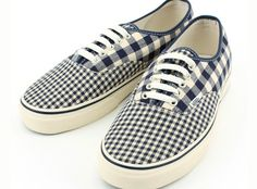 blue gingham vans cutE! but they might be dude shoes but who cares??? i would wear em!