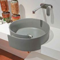 Find out all of the information about the FLAMINIA product: free-standing bathtub / round / Pietraluce® / by Giulio Cappellini FONTANA: Contact a supplier or the parent company directly to get a quote or to find out a price or your closest point of sale. Bath Design, Glass Design, Design Bathroom, Ceramic Design, Console, Drain Pipes, Stone Sink, Bathtub Shower, Light Architecture