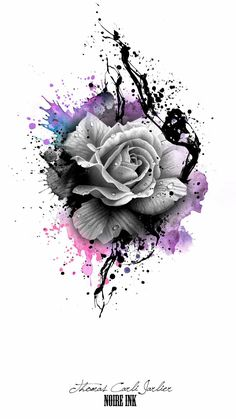 Disney tattoo - gray rose and colorful colors rose tattoo template idea for a tattoo for . - Disney Tattoo – gray rose and colorful colors rose tattoo template idea for a tattoo for… – T - Leg Tattoos, Body Art Tattoos, Tatoos, Zodiac Tattoos, Tattoo Thigh, Forearm Tattoos For Women, Girl Sleeve Tattoos, Paw Print Tattoos, Skull Thigh Tattoos