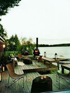 Oh dear, love. We are totally going to put a chimnea on the new dock.